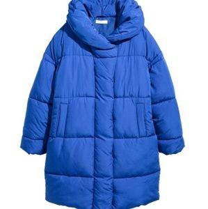 H&M blue padded jacket puffer coat